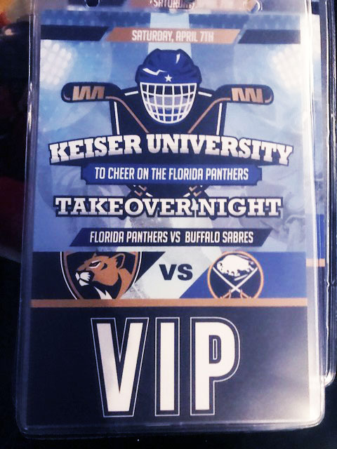 Keiser University Florida Panther Takeover Night